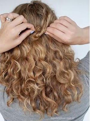 Peinados recogidos 2014 rizado