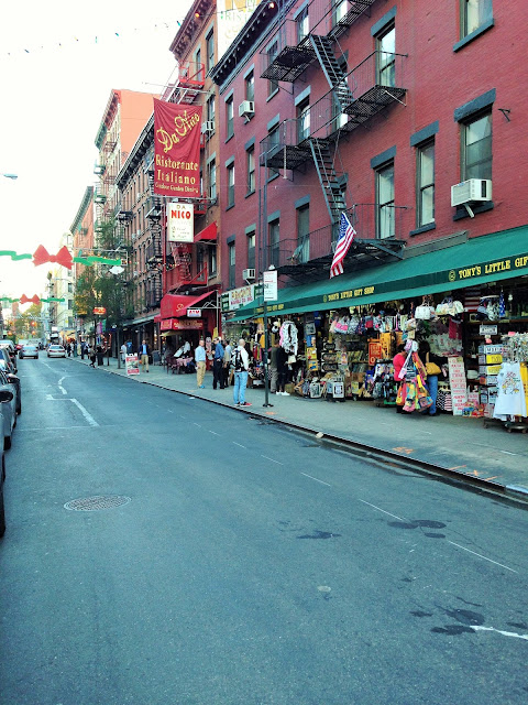 Street of Little Italy manhattan new-york