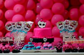 Sugestões festa infantil Monster High
