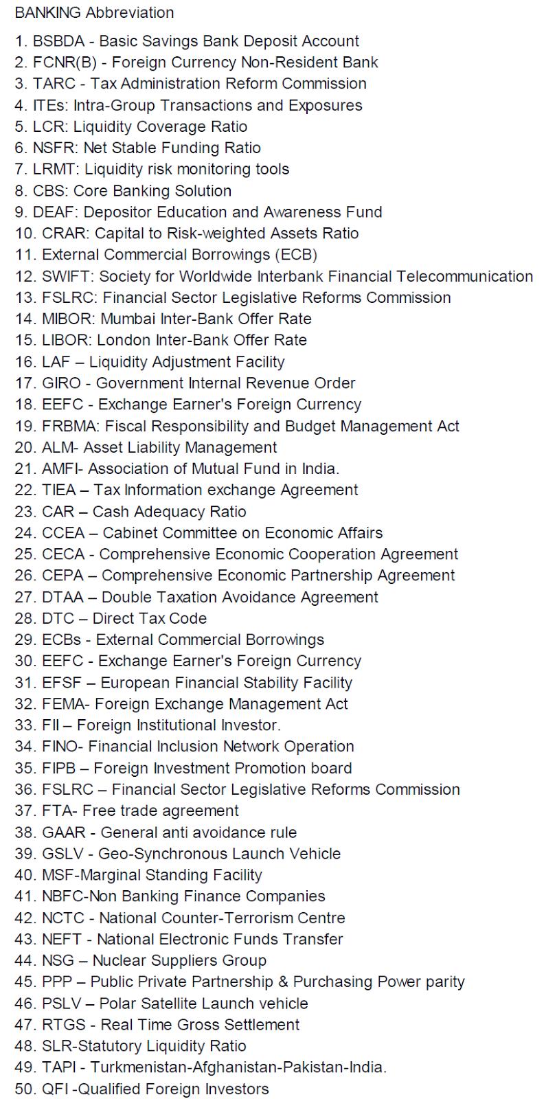 Banking Abbreviation Famous Odisha
