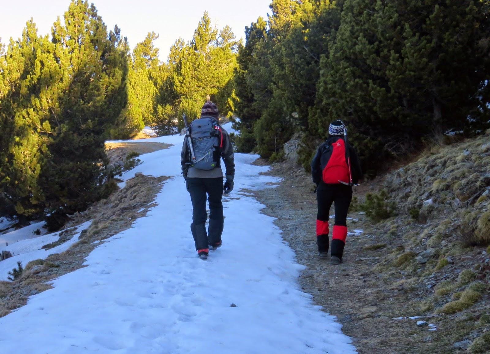 Pla de les Barraques en Invierno, en la ascensión al Puigmal.