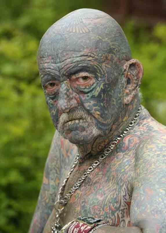 tommy wells kakek tertua di dunia yang memiliki tato
