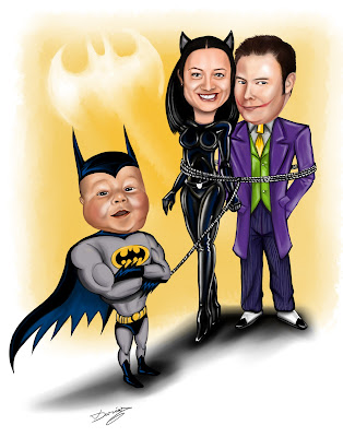 Custom Caricature Batman Theme