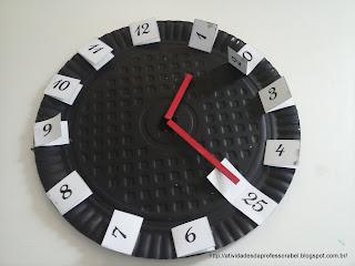 Relógio marcando 1 hora e 25 minutos