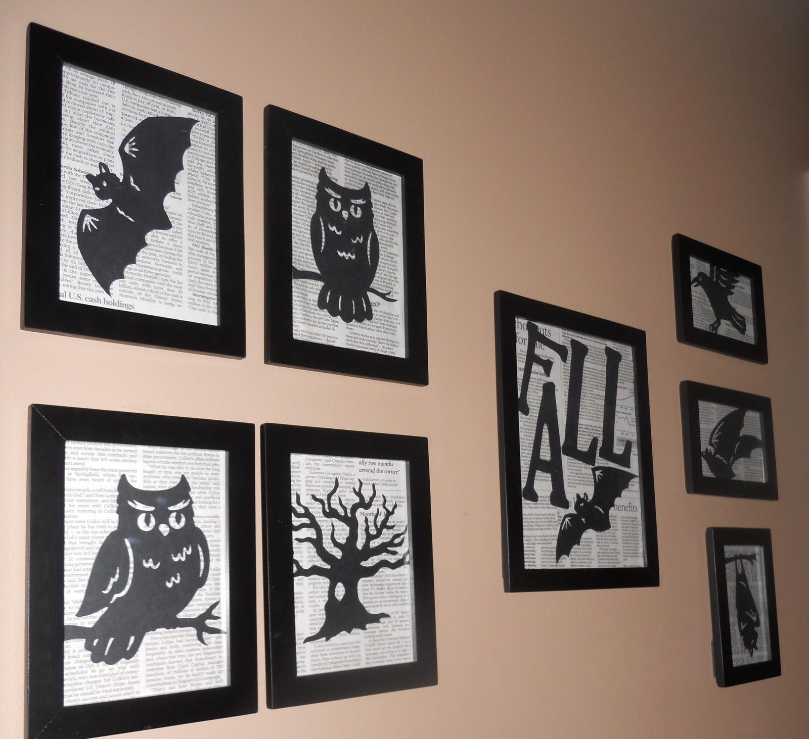 Wall Decor Halloween : Wicked craft week halloween silhouette wall decor dollar