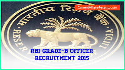 RBI Grade-B Officer Recruitment 2015