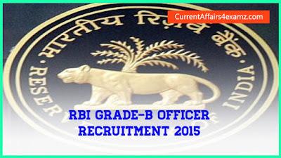 RBI Grade-B Officer Recruitment 2015