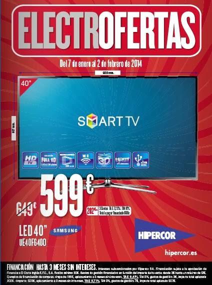 catalogo hipercor ofertas electro enero 2014