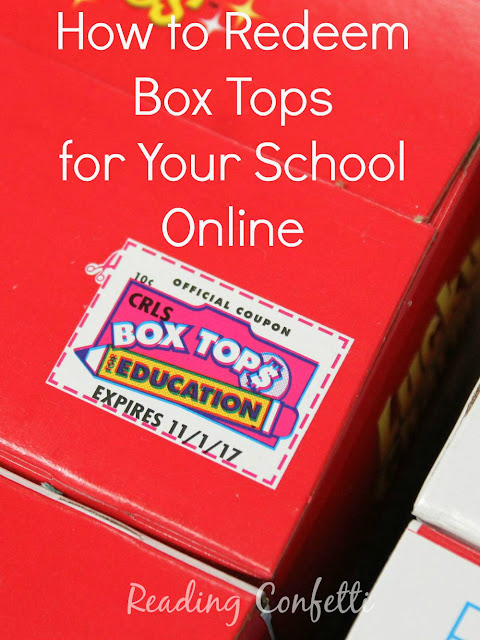 How to redeem box tops online