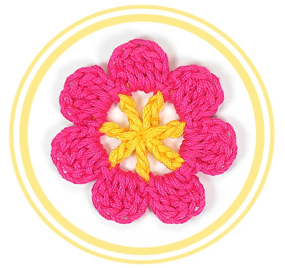 Flor de Siete Pétalos a Crochet #1 - PATRONES VALHALLA: Patrones ...