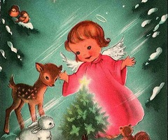 Cindy adkins art books tea vintage christmas cards for Who commissioned the first christmas card in 1843