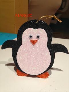 Pingüino purpurina