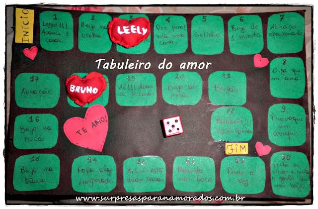 tabuleiro do amor para namorados