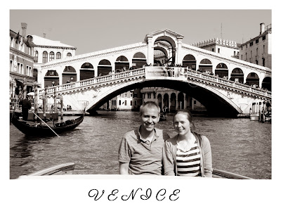 Wedding postcard and table name - Venice
