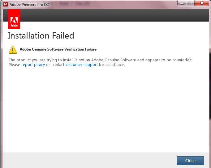 How To Fix all Adobe genuine software verification failure