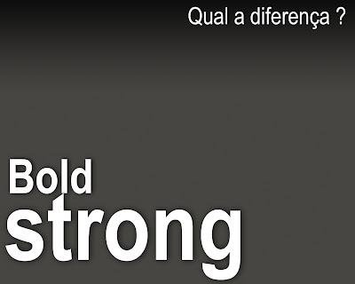 bold e strong SEO