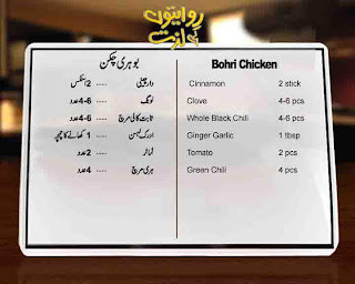 Recipe By Chef Saadat