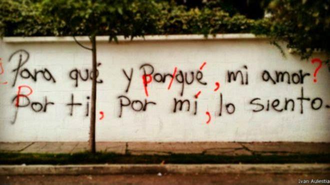 Acción ortográfica en la calle