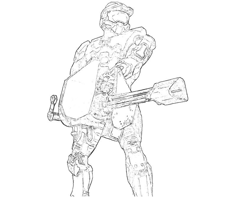 Halo 4 John 117 Weapon How Coloring