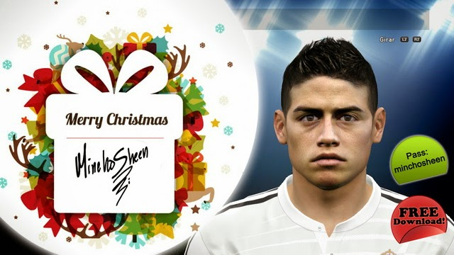 PES 2015 James Rodríguez Face by MinchoSheen