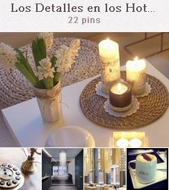 Tablón de el blog hotelero en pinterest dedicado a los de detallnes en los hoteles