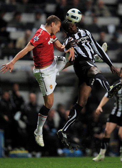 Nemanja Vidic Manchester United vs Newcastle United Barclays Premier League