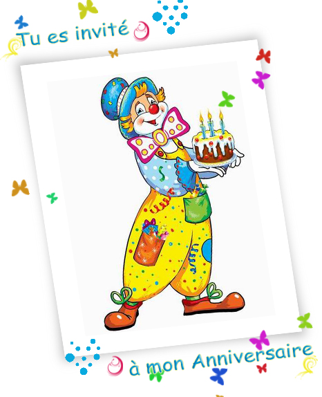 Carte gratuite: Cartes d'invitation pour un anniversaire