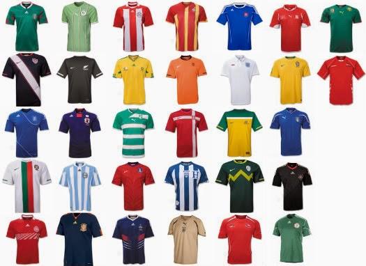 2014世足各國的球衣 - ACOTEX