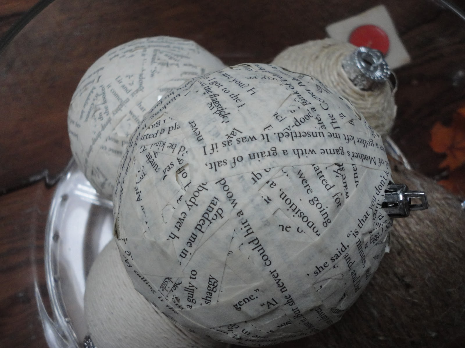 Paper mache ornaments -  On Doing An Earthy Natural Looking Tree With Lots Of Textures And Different Shades Of Earth Tones So I Made This Paper Mache Christmas Ornament