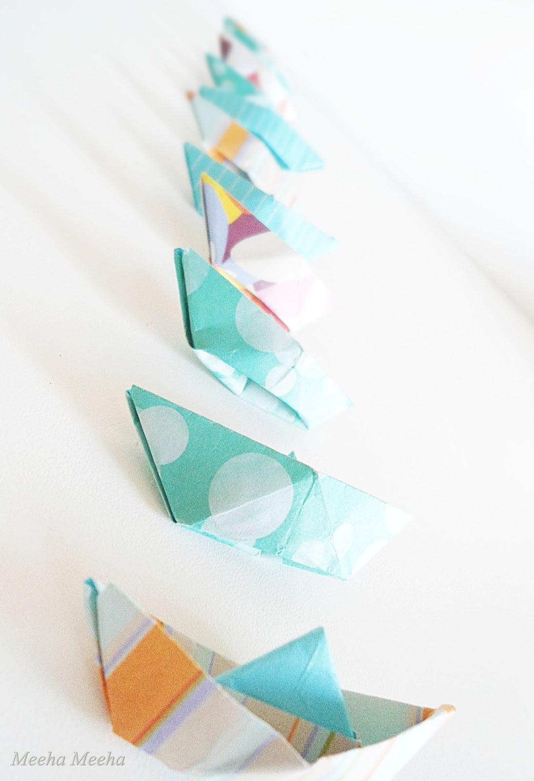meeha meeha origami boat garland