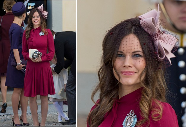 Princess Sofia Of Sweden In Gucci At The Christening of Prince Nicolas of Sweden