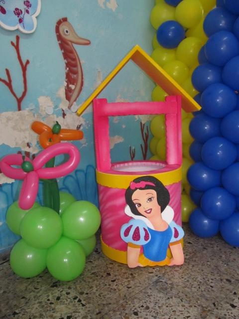 Fiestas princesa disney blanca nieves fiestas tematicas - Decoracion fiesta princesas disney ...