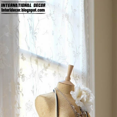 curtain lace material, vintage bedroom style