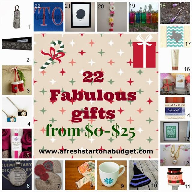 http://afreshstartonabudget.com/2013/11/22-christmas-gift-ideas-from-0-25-part-1.html