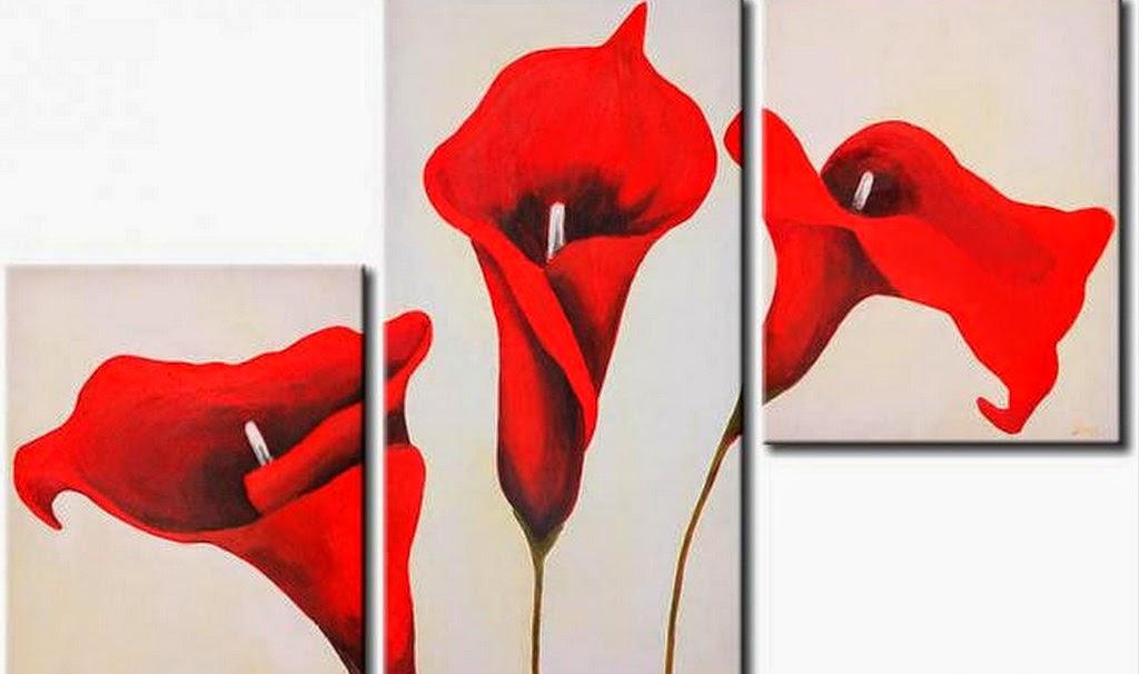 cuadros-de-flores-modernos-tripticos