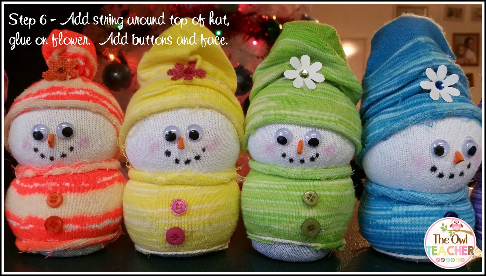Delightful Create Easy DIY Sock Snowmen This Year As Your Holiday Craft In Your  Classroom For An