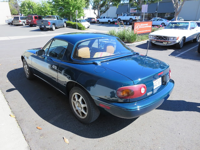 Miata with car paint and collision repairs from Almost Everything Auto Body