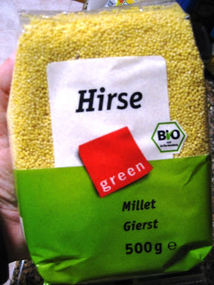 Embalagem de millet, milheto, milhete, painço