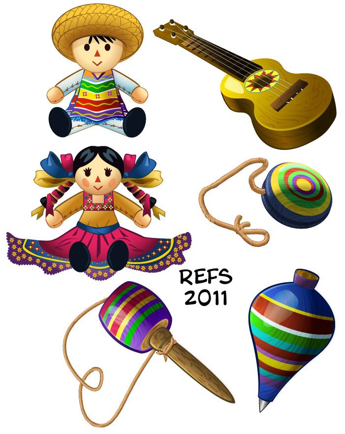 dibujos juguetes mexicanos
