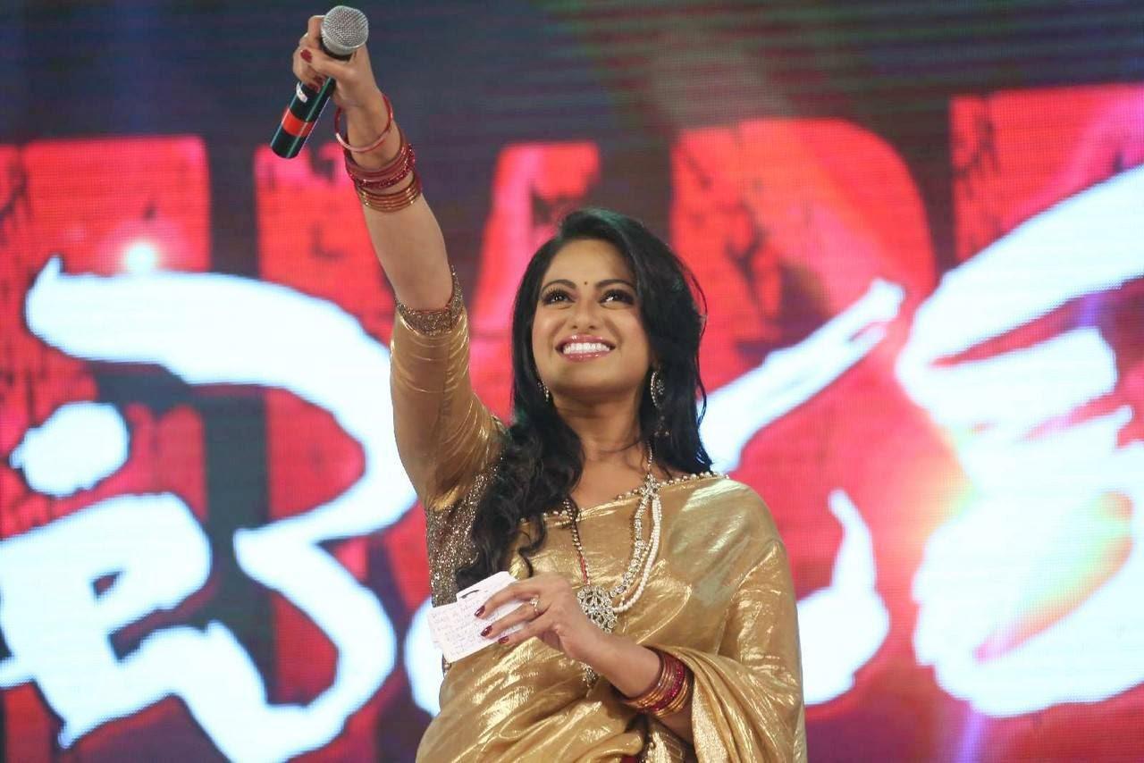 Actress Udaya Bhanu Latest Cute Hot Saree Navel Show Spicy Photos Gallery At Temper Movie Audio Launch