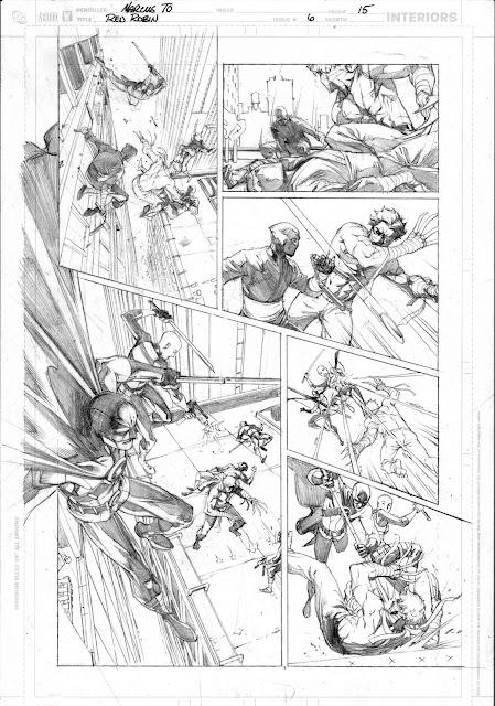Red Robin #6 Bocetos paginas internas