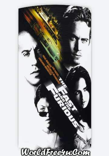 Poster Of The Fast and the Furious (2001) In Hindi English Dual Audio 300MB Compressed Small Size Pc Movie Free Download Only At worldfree4u.com