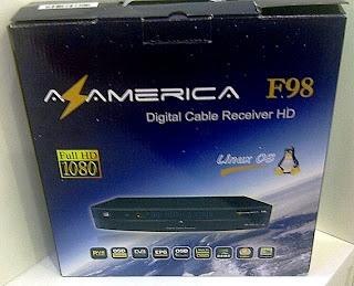 Nova Atualização Azamerica F98 Hd V2.90 27-01-2013