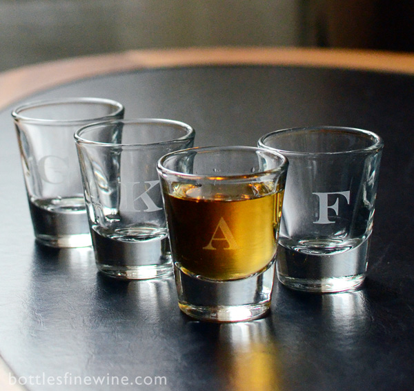 """engraved shot glass"" monogram"