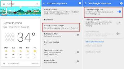Pencarian suara Google Now