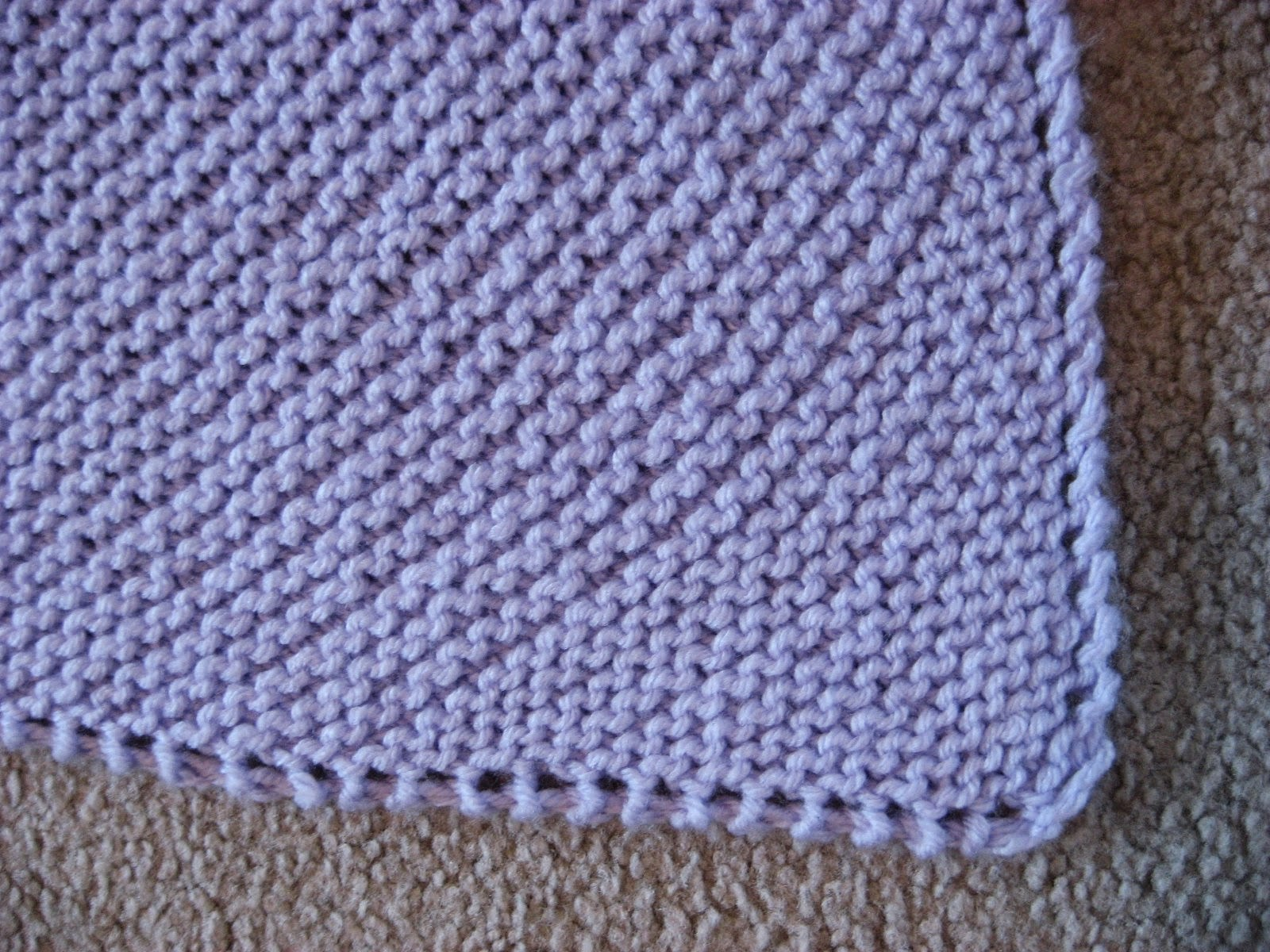 Hooked On Needles Easy Knitted Baby Blanket Instructions Included