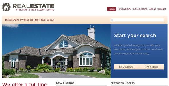 template para site de venda de casas online