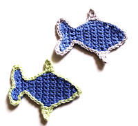 free crochet patterns, fish, motifs, how to crochet,