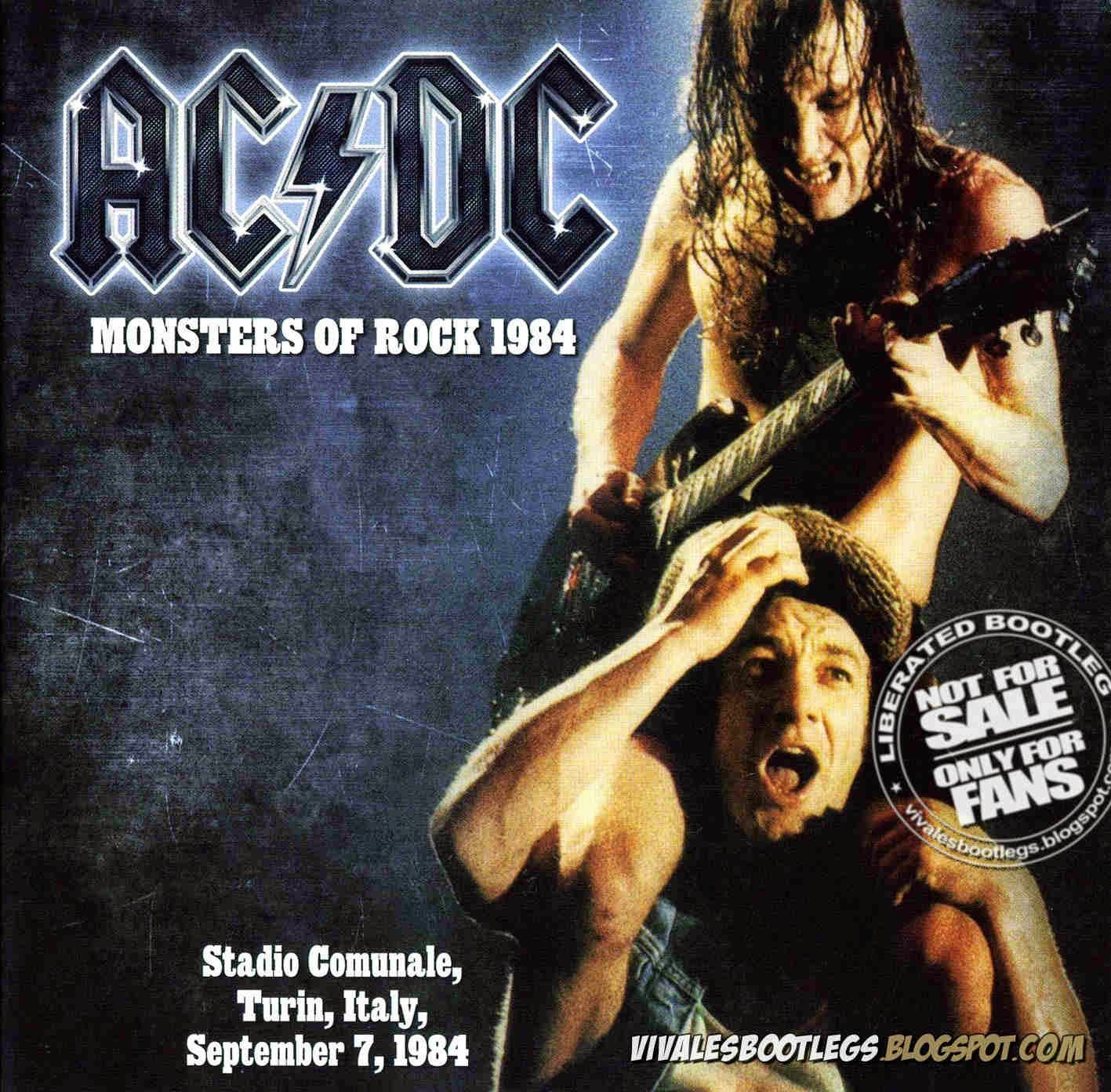 ACDC Monsters of Rock 1984 front cover