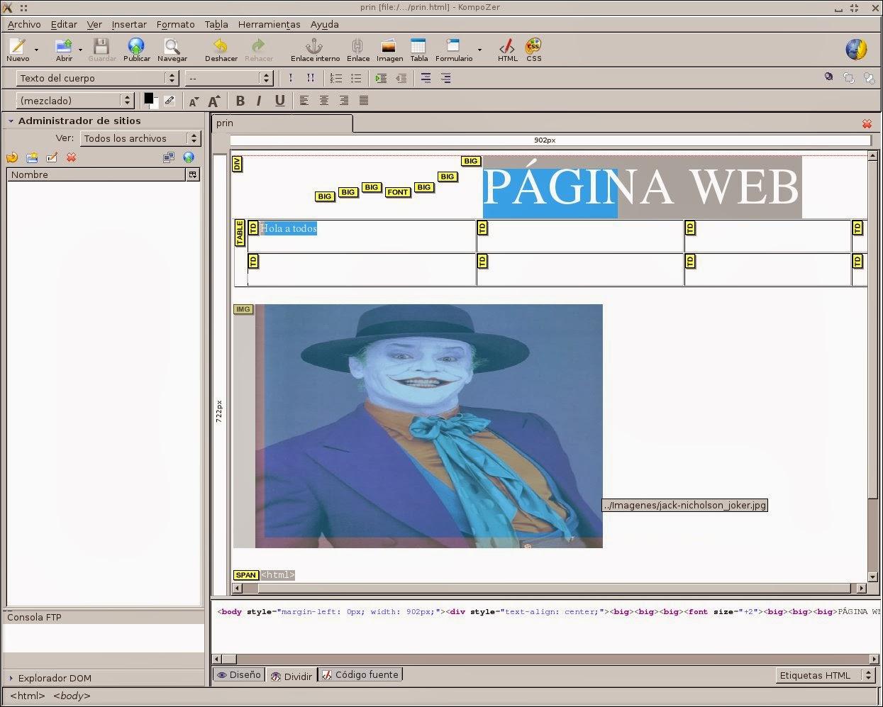 Diseño y CAD en Linux: KompoZer, un sencillo pero efectivo editor web